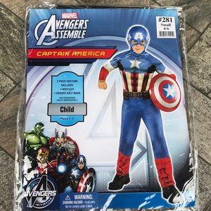 Captain America costume size 4-6 small